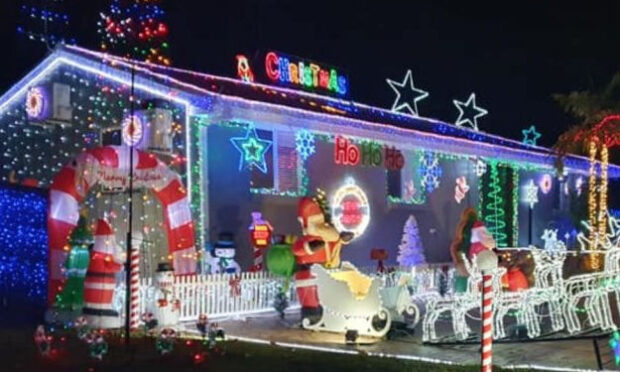 Christmas lights in Canberra